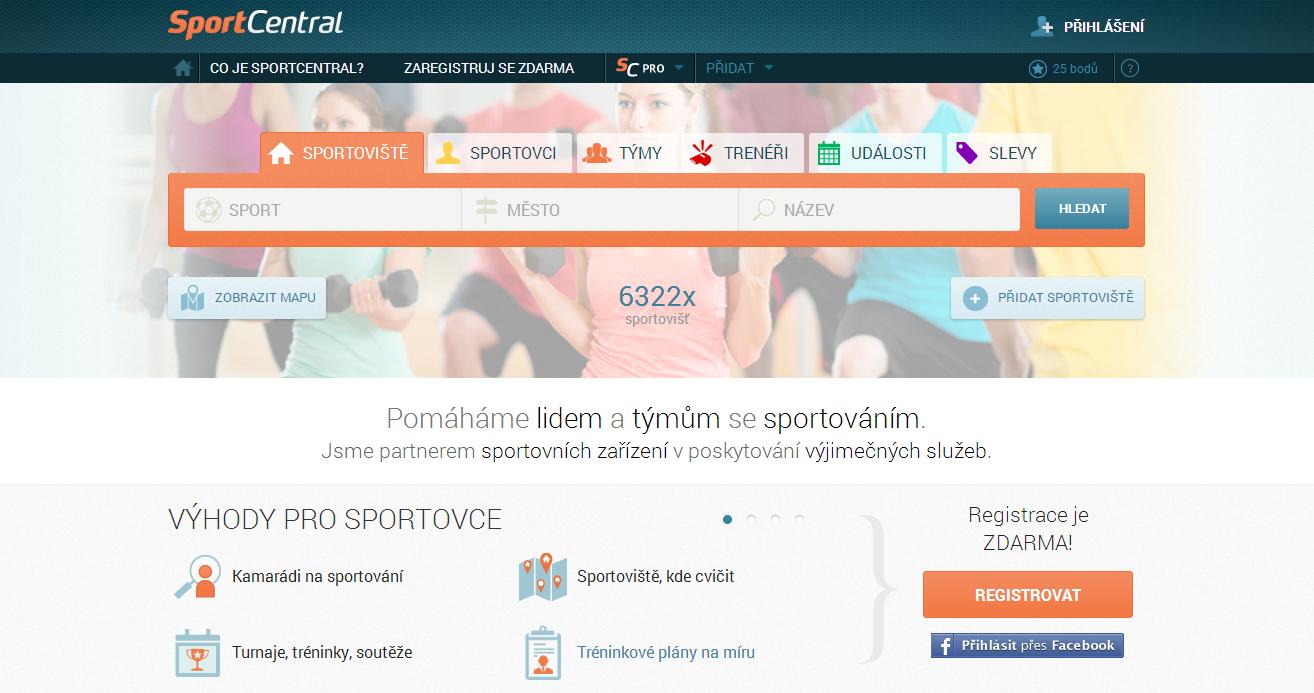 SportCentral novinky 1 homepage