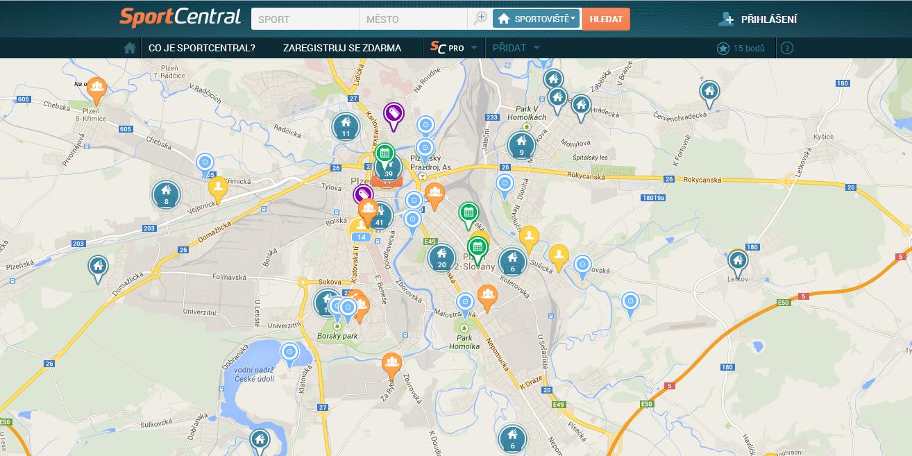 SportCentral novinky 2 mapa
